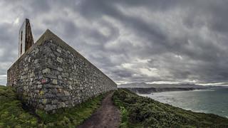 Muro oeste del faro Vidío
