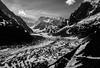 Mer de Glace: French Alps BW: 1993 (mharoldsewell) Tags: 1993 2018 8000i chamonix france frenchalps georgia kodachrome kodachrome64 maxxum merdeglace minolta snow glacier glaciers ice mharoldsewell mikesewell photos slides