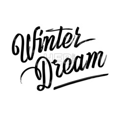 Winter dream. Written phrase, lettering by hand. (Hebstreits) Tags: art background black calligraphy card celebrate christmas design drawn dream graphic greeting hand handwritten happy holiday illustration ink isolated lettering little magic one quote script text typography vector white winter wonderland year