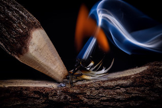 Two Sticks And Fire By Friction