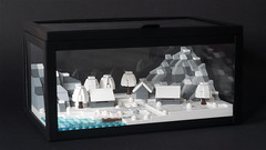 Cold Winter Day in Glass Box (aukbricks) Tags: lego moc legomoc microscale legomicroscale microbuild cold winter day mountain landscape house ice ikea okänd glasbox glas box