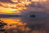 sunset 5141 (junjiaoyama) Tags: japan sunset sky light cloud weather landscape orange purple contrast color bright lake island water nature winter calmness reflection