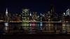 Reflejos / Reflections (López Pablo) Tags: night new york manhattan skyline skyscraper building river hudson nikon d7200 urban