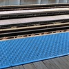 """Chicago, North Side, Brown (Ravenswood) Line, Montrose """"El"""" Station, Line Abstract (Mary Warren 9.6+ Million Views) Tags: chicago urban rapidtransit transportation station platform abstract tracks lines diagonals blue"""