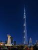 Tallest! (Abhi_arch2001) Tags: tallest tall tower world skyscraper burj khalifa dubai united arab emirates uae glow light blue hour hand gesture symbol sign sculpture building skyline led downtown park
