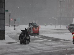 True Grit (brooksbos) Tags: brooks brooksbos disabled wheelchair boston southstation storm blizzard inspiring inspirational grace