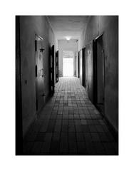Saxon´s houses 9 (2 Marvelous 4 Words (Blanca Gomez)) Tags: berlin sachsenhausen sachsenhausenconcentrationcamp sachsenhausenmemorialandmuseum arbeitmachtfrei naziconcentrationcamp holocaust 19361945 arquitectura architecture bw blackwhite light shadows prison prisoners