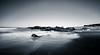 Black and White Beach (rohitsanu1) Tags: sea ocean california ca canon5dmarkii canon24105mmf4l canon24105f4l ndfilter landscape seascape nature sky rocks lightroom le longexposure edited blackandwhite bw beach vignette