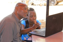 FIRE - Mucho Mangoes Mzee Gibran Sowene learning together with young Hellen Ngaleri 1