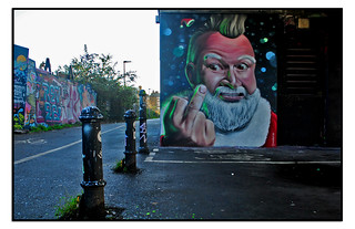 BAD SANTA STREET ART by WOSKERSKI