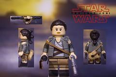 Rey (Resistance Outfit) (JECProductionstudios) Tags: starwars starwarsthelastjedi rey resistance lego custom thelastjedi tlj last jedi force awakens