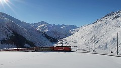 Nätschen Oberalp - Trains in the Snow (Kecko) Tags: 2017 kecko switzerland swiss schweiz suisse svizzera innerschweiz zentralschweiz uri nätschen oberalp pass oberalppass matterhorngotthardbahn railway railroad mgb eisenbahn bahn glacierexpress gütschexpress zug train winter snow schnee swissvideo video geotagged geo:lat=46641930 geo:lon=8607000