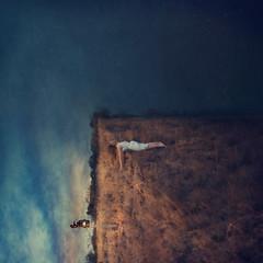 new territory (brookeshaden) Tags: brookeshaden fineartphotography conceptualphotography surrealism surrealphotography conceptualart selfportrait cliff newyear beaconoflight lamppost reaching
