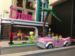 Iconic (brickbuilder711) Tags: lego town city creator modular building 10260 downtown diner cadillac miami south beach