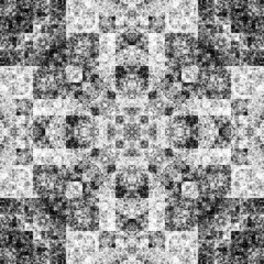 0385500637 (michaelpeditto) Tags: art symmetry carpet tile design geometry computer generated black white pattern