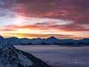 Light Pillar (Traylor Photography) Tags: alaska girdwood sunset turnagainarm lightpillar colors alyeska cloudinversion fog anchorage unitedstates us