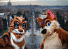 Villa Borghese 1 (joeychubbyfox) Tags: furry fursuit walk rome majesty siberian tiger bycats4cats bc4c joey chubby fox morefurless