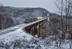 Wintry Wells Viaduct (WillJordanPhoto) Tags: trains wells viaduct greenville district snow winter wonder land norfolk southern 203