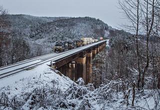 Wintry Wells Viaduct