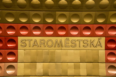 Staromestska (Reckless Times) Tags: czech staromestska underground tube train station prague cz czechrepublic czechia gold red nikon d750 architecture