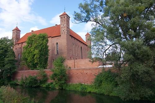 Zamek biskupów warmińskich w Lidzbarku Warmińskim od południowego wschodu
