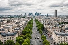 La Défense, Paris (simonspisak) Tags: paris arc de triomphe la defense france cloudy avenue boulevard secession architecture cityscape