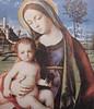 Madonna with Christchild (giveawayboy) Tags: mary jesus painting giovannibellini bellini virgin child italian renaissance tower tree bird landscape virginmary theotokos