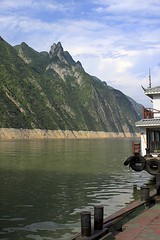 Goddess Peak (oxfordblues84) Tags: peoplesrepublicofchina china oat overseasadventuretravel yangtzerivercruise yangtzeriver goddessstream goddessstreamcruise victoriacruises victoriajennacruise victoriajenna threerivergorge gorge rivergorge cruise riverboatcruise rivercruise riverbank river water goddesspeak mountain scenery sky clouds cloudy partlycloudy trees wushangoddesssceniczonecruise