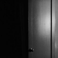 Door to Light or Dark (andymudrak) Tags: 365 365days 365photochallenge photography squareformat door dark light bw moods