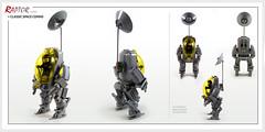 Raptor series: Classic Space Comms (Brixnspace) Tags: raptor walker frame powersuit suit lego moc toy biped space bot cs classic spacesuit explore exploration