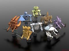 The Axen Octet of Sepulchure (Count Sepulchure) Tags: fantasy tank mage ldd bluerender lego wizard wow warcraft knight warrior ghost spook axe spectre demon imp mask duke figure