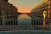 Pont levant de la rue de Crimée (Edgard.V) Tags: paris parigi crimée villette ourcq canal canale channel ponte bridge bassin sunrise soleil levant amanhecer alba aube dawn reflets reflections water agua acqua