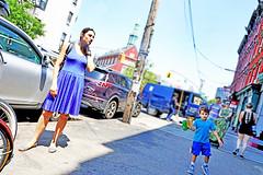 Brooklyn (kirstiecat) Tags: family mother son child play shadows brooklyn nyc newyork newyorkcity america people strangers beautifulstrangers summer cyan street canon