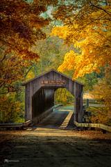 Autumn's Splendor (James Korringa) Tags: covered bridge fallesburgpark lowell michigan