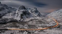Moonlight over the Great Glen (Peter Ribbeck) Tags: glencoe peterribbeck peterribbeckcom©peterribbeck2017 moonlight lighttrail threesistersofglencoe