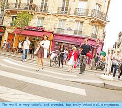 Parisian Wanderers (kirstiecat) Tags: thewanderers paris france people boulangerie quote literature book colors strangers street canon novel meghowrey read europe