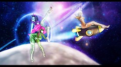 Space Babes (ZexyQueen) Tags: secondlife sl slphotography space spacebabes ayyyyylamos aliens scifi stars r2 collabor88 madpea