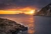 at the edge (Alexander Lauterbach Photography) Tags: lofoten norway islands sunset sun ocean orange cluffs edge landscape sony a7r