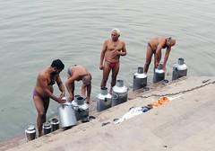 varanasi 2017 (gerben more) Tags: can people men ganges ganga varanasi benares shirtless langot river india