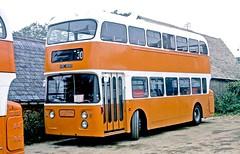 Heyfordian, Upper Heyford: HRC489D in the operator's yard (Mega Anorak) Tags: bus daimler fleetline crg6lx alexander heyfordian upperheyford trent