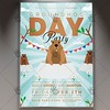 Groundhog Day - Seasonal Flyer PSD Template (psdmarket) Tags: groundhogday groundhogfest groundhogfestival groundhognight groundhogparty happygroundhogday marmot punxsutawneyphil woodchuck