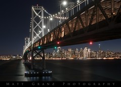 The Tradition (Matt Granz Photography) Tags: sanfrancisco city skyline baybridge williebrownbridge lights holiday night bluehour twilight
