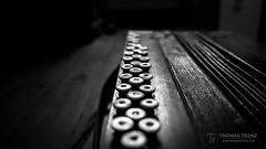 Button Way (Thomas TRENZ) Tags: akkordeon balg bandoneon handzuginstrument knã¶pfe musikinstrument nikon squeezebox tamron thomastrenz ziehharmonika accordion alt blackwhite buttons d600 feeding fx geschichte history iamnikon instrument musical old schwarweiss