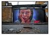 STREET ART by IRONY (StockCarPete) Tags: irony streetart londonstreetart urbanart london uk face visage lowpov gumpy