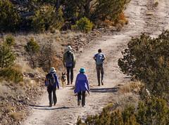 White Rock Canyon hike (stshank) Tags: brad losalamos molly newmexico rachel susanna whiterockcanyon xan dog hike hiking