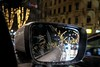 self reflection (agruebl) Tags: christmas xmas wien vienna vienne night nacht nuit christmaslights reflection car mirror spiegel fuji fujix100 weihnachten