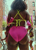(Berto Jeanius) Tags: thickass bubblebutt blackwoman pinkpanties feathers