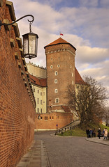 Wawel Castle, Krakow, Poland (Cat Girl 007) Tags: poland krakow culture palace fort europe medieval historic landmark wall building stone tower castle old sky tourism travel architecture ancient outdoors daytime vertical path wawel