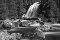 Norwegian nature (Explored) (steffos1986) Tags: nature waterfall cascade stream rapids gorge river water blackwhite blackandwhite monochrome spring longexposure ndfilter hoyaprond1000 greyfilter nikond5500 nikon2880af countryside norway norwegen noruega landscape landschaft explore turism travel gjøvik gjovik rocks forest light shadows
