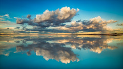 Lake Eyre, Salt Lake Reflection (Young Ko) Tags: cloud reflection saltlake lakeeyre australia nature blue harmony nikon flickr landscape awesome atmosphere sky lonely composition interesting beautifulphoto southaustralia outback reflections
